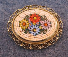 Beautiful & Colorful Mosaic Pin