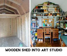 Wood Shed into Epic Art Studio