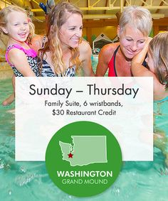 Take a look at this For $209, treat the family to an exhilarating waterpark adventure along with a one night stay in one of the family suites at Great Wolf Lodge in Grand Mound, WA worth $310. on zulily today!