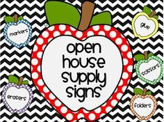 Chevron Open House Supply Signs