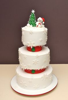 Christmas cake. Holy crap that's awesome!