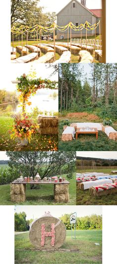 Like the table using bales for the legs.