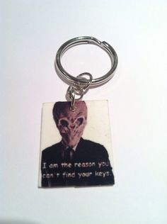 Doctor Who Silence Keychain by NerdvanaMama on Etsy, $4.50