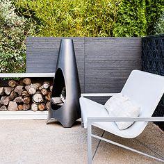 Heated Galanter & Jones bench, Modfire fireplace