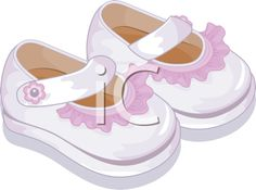 iCLIPART - Royalty Free Clipart Image of Baby Shoes