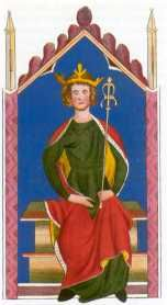 King Henry II (1154-1189). House of Angevin. 22nd great-grandfather to Queen Elizabeth II. Reign: 34 yrs, 8 mos, 11 days. Succeeded by son Richard. English conquest of Ireland began during his reign. In 1166 the Assize of Clarendon establish trial by jury for the first time. In 1168, English scholars expelled from Paris settle in Oxford, where they found a university.