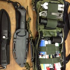 Alaskan summer survival kit.  Maxpedition FR-1 pouch.