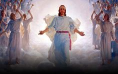 Jesus Glory In Heaven With Angels Picture