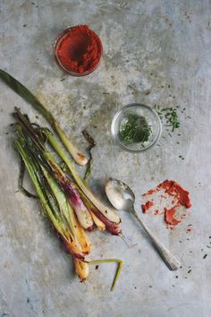 Red Curry Roasted Spring Onions // With Food + Love
