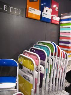 Pantone Chairs graphic design, panton color, panton product, chairs, design thing, colors, panton fun, inspir, pantone