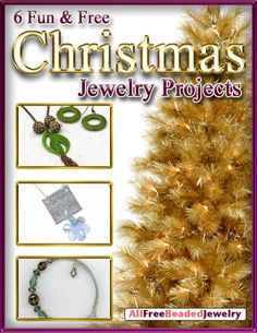 The Christmas season is all about giving, and the 6 Fun and Free Christmas Jewelry Projects eBook is just what you need to get in the holiday spirit! These Christmas jewelry projects are perfect to make for gifts or for your to wear to all your holiday parties. | AllFreeJewelryMaking.com