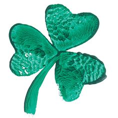 Potato stamp shamrock with green acrylic paint