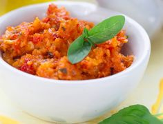 Artichoke & Sun-Dried Tomato Pesto. This is one unique pesto that packs flavor. Perfect to bring to a gathering and great use of all that basil this summer season. #artichoke #pesto