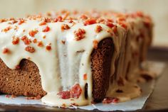 Espresso Poundcake with Maple Bacon Icing