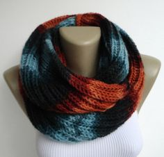 colorful infinity scarves mens scarf women by senoAccessory, $35.00