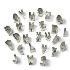 Mini Letter Cookie Cutters
