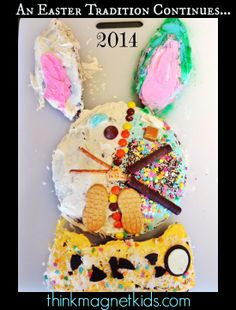 The 2014 Easter Bunny Cake is up...the tradition continues. Let your kids make the cake!