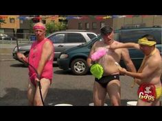 Sexy Gay Bikini Car Wash - Drivers are lured into a car wash by a sexy girl and then referred back to the super flashy stereotypical gay couple for the actual job of washing the car. Hot buns galore!   Don't miss a prank! Subscribe to our Youtube channel! www.youtube.com/gags