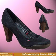 Γόβα μαύρη, γκρι ή μπλε καστόρινη, Tommy Hilfiger    ΑΠΟ 119.9€ - ΤΩΡΑ 95.9€    shop online >> http://www.styledropper.com/tsouderos?pid=13964=el    Τακούνι 8,5 cm