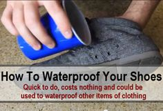 DIY How To Waterproof Your Shoes diy waterproof shoes, boot, candles, rub candl, candl wax
