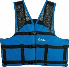 Stay safe on the boat with the Cabela's Cool Mesh Vest.