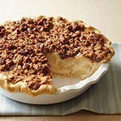 Apple Sour Cream Pie #thanksgiving #desserts #apple #holidays