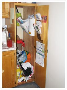 Example A: Kitchen Pantry Cupboard/Broom Closet (Before)