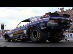 2013 Night Under Fire Mark Oswald Jim Head Nitro Funny Car Exhibition Nostalgia Drag Racing - YouTube