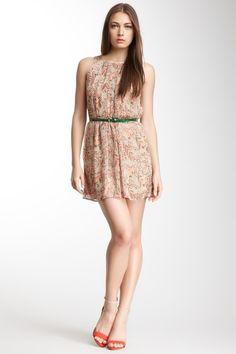 Graphic Leaf Print Dress