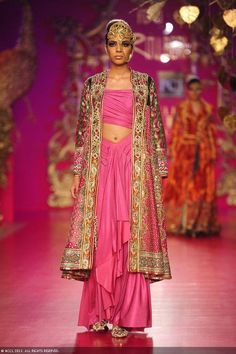 Arshia Ahuja walks the ramp for designer Ritu Beri on Day 4 of Delhi Couture Week, held in New Delhi, on August 03, 2013.