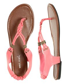 WetSeal: Braided T-Strap Sandal - Shoes $14.50