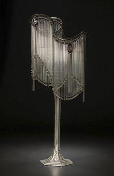 Hector Guimard-style Art Nouveau Table Lamp. Gorgeous!