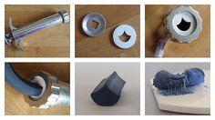 diy extruder disk with shrink plastic by ClaireWallis, via Flickr