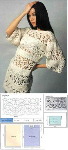 Have a lacy summer with this crochet tunic! laci crochet, laci tunic, dress, tunic top crochet, crotchet patterns, diagram, crochet tunics, crochet patterns