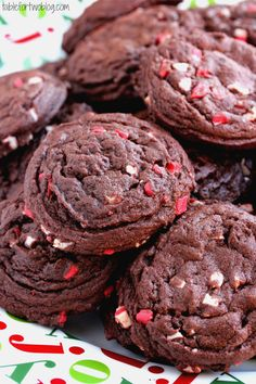 Chocolate Peppermint Chip Cookies - Table for Two