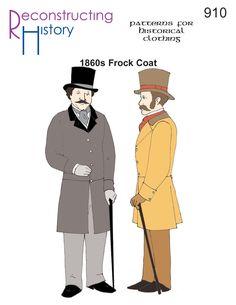 1860s Frock Coat | Civil War Frock Coat | Steampunk Coat