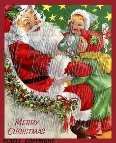 Vintage Santa Quilt Block Vintage Christmas by mermaidfabricshop, $9.99