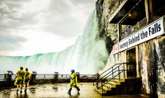 7+ ways to experience Niagara Falls, at least one is right for your family! (Image: Spectators in yellow rain ponchos view Horseshoe Falls at Journey Behind the Falls - Niagara Falls, ON)