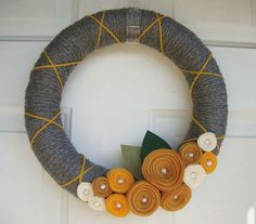 Yarn wreath!