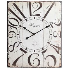 Love the design on this clock