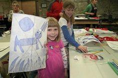 Make kites at the Minnesota Center for Books Arts