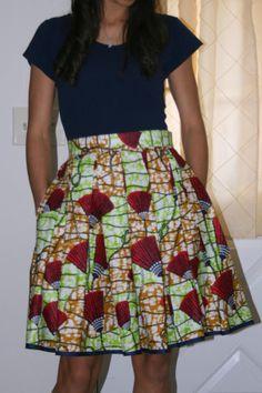 African print Skirt <3