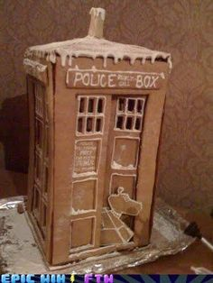 Gingerbread Tardis? #DoctorWho