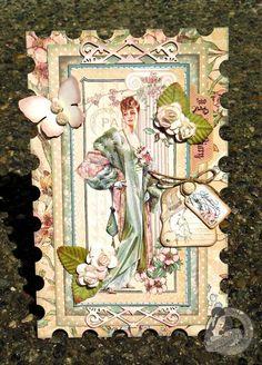Beautiful card by @Tara Harmon Orr using A Ladies' Diary! #graphic45