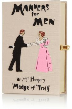 OLYMPIA LE-TAN Manners For Men embroidered clutch