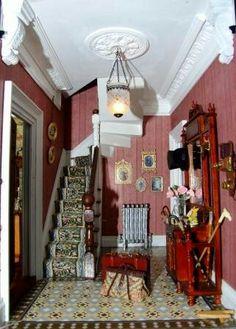 Miniature room settings on pinterest miniature rooms miniature kitchen and dollhouse miniatures - Dolls house interior ...