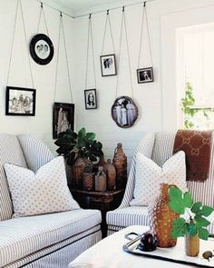 Create an art gallery in your home with salvaged picture frame molding, hardware and old picture frames; upcycle, recycle, salvage, diy, repurpose!  For ideas and goods shop at Estate Resale & ReDesign, Bonita Springs, FL
