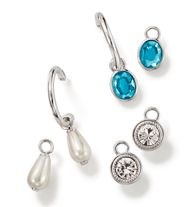 Easy Glam Interchangeable Earring Gift Set-  pierced silvertone hoops with interchangeable faux-pearl, rhinestone, and faux-stone drops.  Regularly $10.99, buy Avon Jewelry online at http://eseagren.avonrepresentative.com