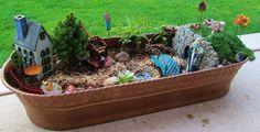 fairies, fairi garden, yard idea, mini garden, gardens, homegarden decor