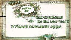 Get Organized for the New Year- 5 Visual Schedule Apps tags, aac, visual schedules, appeal app, organ, visual support, slp tech, new years, schedul app